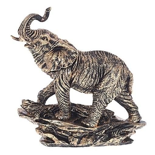 Статуэтка Слон цвет: бронза L27W15H34см - фото 69645
