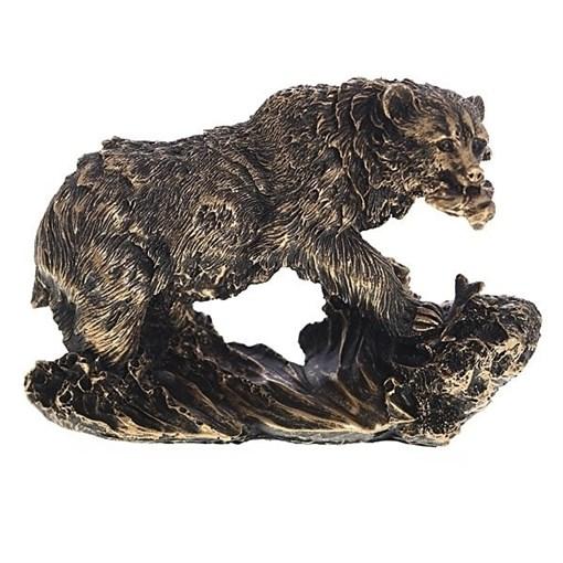 Фигурка Медведь цвет: бронза L26W11H16см - фото 69650