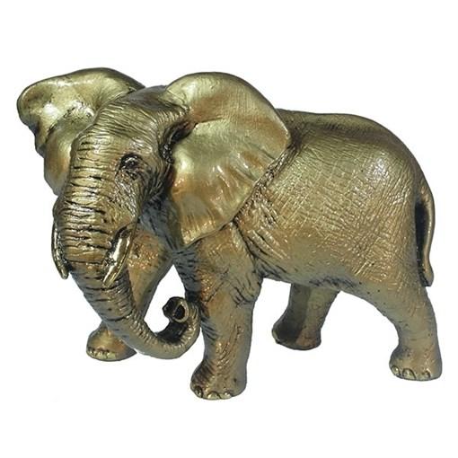 Фигура декоративная Слон цвет: золото L17.5W9H13см - фото 69654