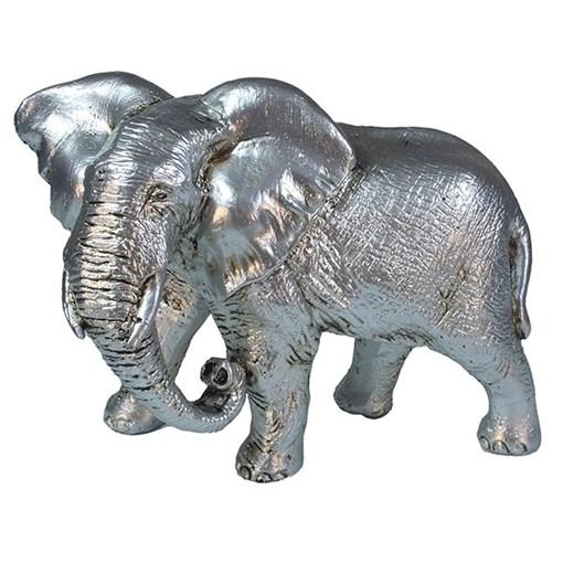 Фигура декоративная Слон цвет: серебро L17.5W9H13см - фото 69655