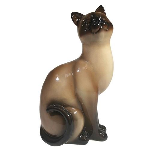 Фигура декоративная Кошка сиамская L12W9H21.5см - фото 69660