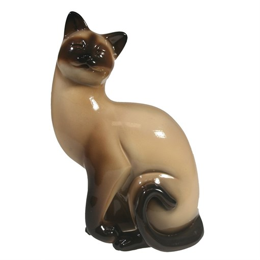 Фигура декоративная Кошка сиамская L13W8H19см - фото 69662
