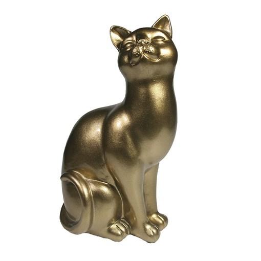 Фигура декоративная Кошка L12W9H21.5см - фото 69664