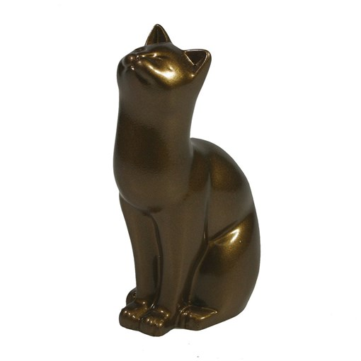 Фигура декоративная Кошка бронзовая L6.5W4H9см - фото 69683