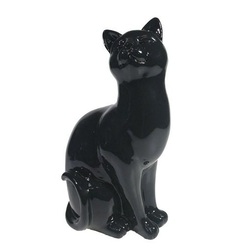 Фигура декоративная Кошка черная L12W9H21.5см - фото 69684