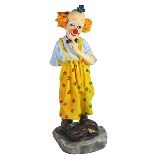 Фигура декоративная Клоун с букетом L16W14H36см - фото 69696