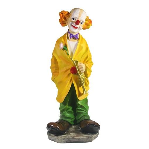 Фигура декоративная Клоун с трубой L15W15H37см - фото 69698