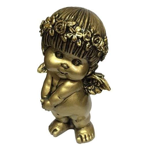 Фигура декоративная Ангел цвет: сусальное золото L10W8H14.5cм - фото 69796