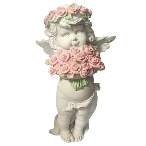Фигурка декоративная Ангел с розами  L12.5W9Н22см - фото 69797