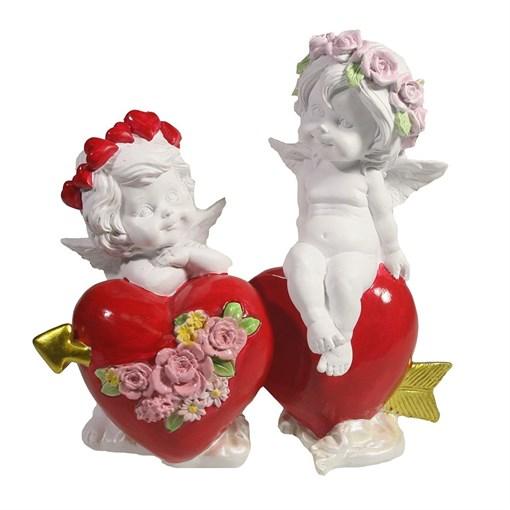 Фигурка декоративная Ангелы верности цвет: акрил L15W6.5H14.5см - фото 69807