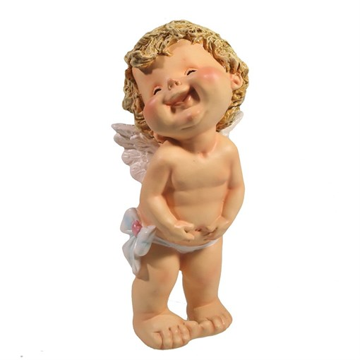 Фигура декоративная Счастливый ангелочек L7W8H18см - фото 69813
