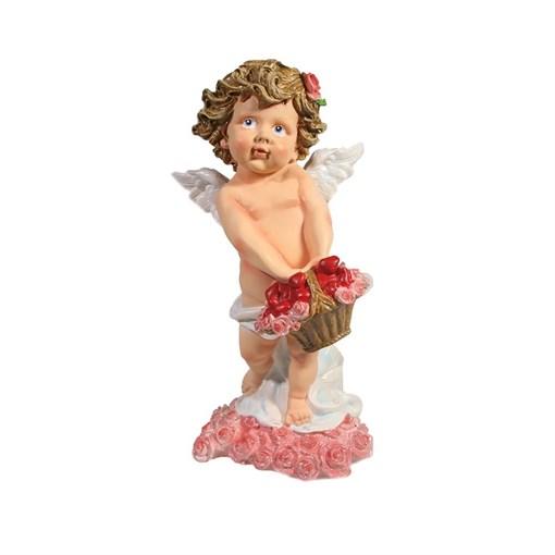 Фигурка декоративная Ангел хранящий любовь розовый L11.5W10.5Н22.5см - фото 69817