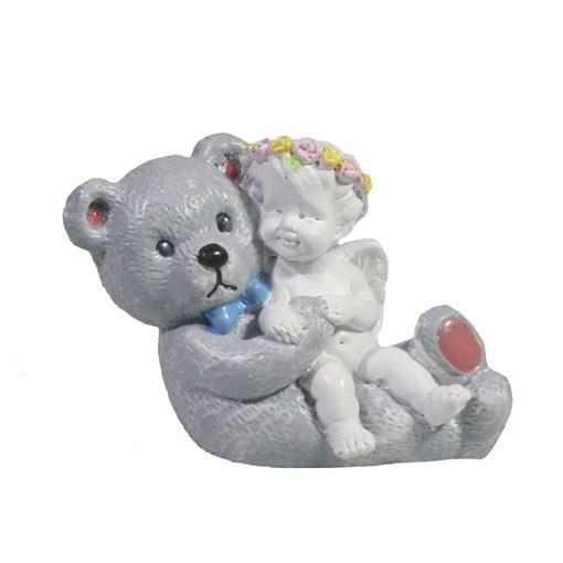 Фигура декоративная Ангел с плюшевым медведем L7W3.5H5см - фото 69829