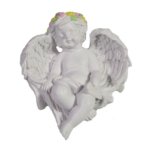 Фигура декоративная Спящий ангел L7W6H3.5см - фото 69831