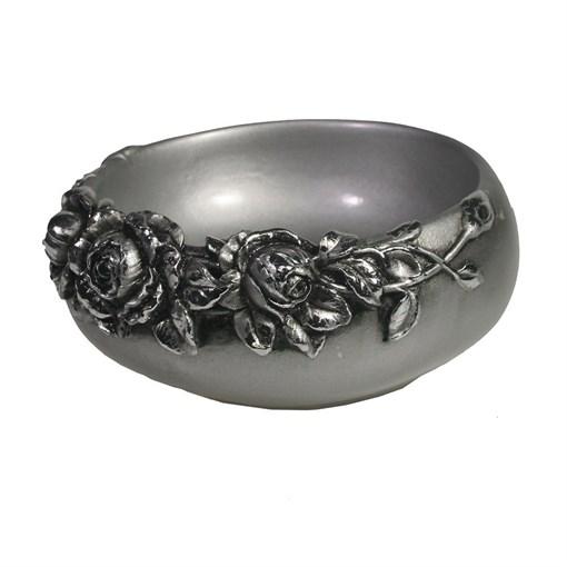 Подставка под украшения с розами цвет: серебро L14W14H6см - фото 69842