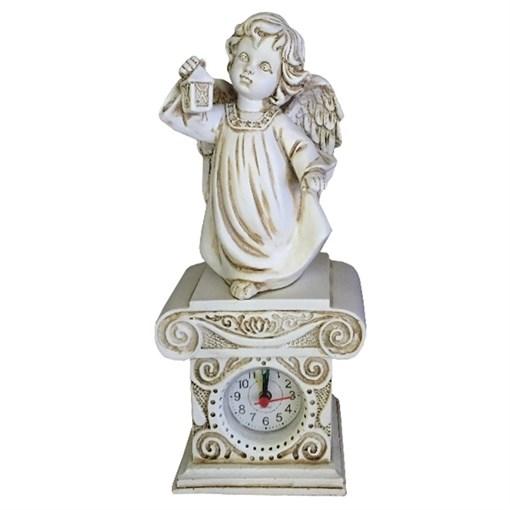 Композиция время Ангел с фонариком цвет: антик Н25см - фото 69854