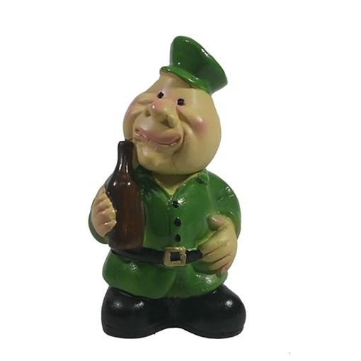 Фигура декоративная Солдат с бутылкой L4.5W3H9см - фото 69856