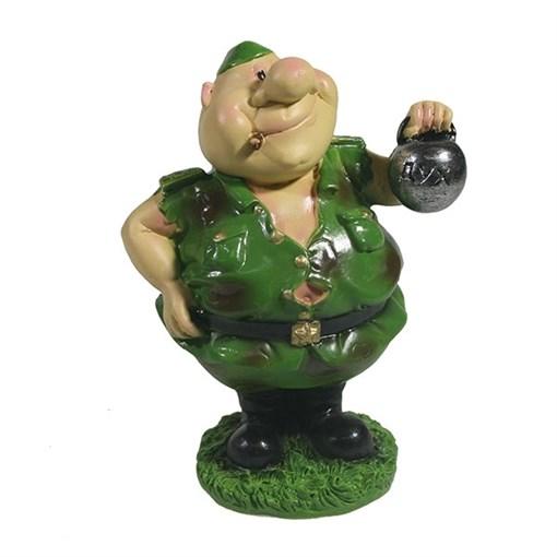 Фигура декоративная Солдат с гирей L5.5W5H9.5см - фото 69861