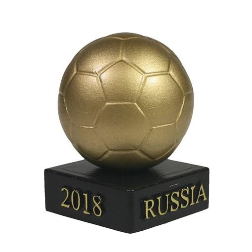 Изделие декоративное Мяч на подставке цвет: золото L5W5H8.5см - фото 69875