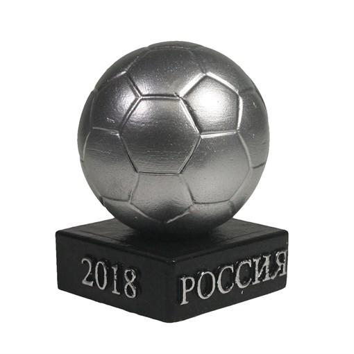 Изделие декоративное Мяч на подставке цвет: серебро L5W5H8.5см - фото 69876