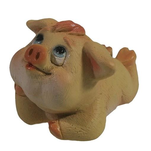 Фигура декоративная Свинка Сара II L7.5W5.5H5.5см - фото 69882