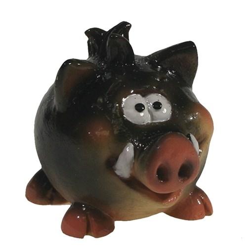 Фигура декоративная Кабанчик Хантер черный L5W3H4см - фото 69897