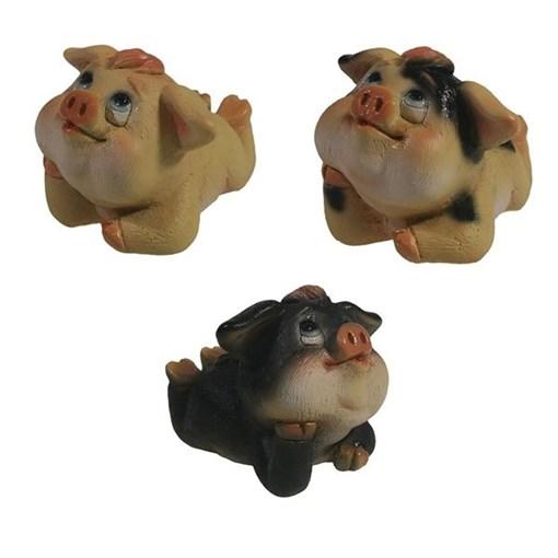 Фигура декоративная Свинка Сара L7.5W5.5H5.5см - фото 69901