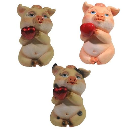 Фигура декоративная Свинка Беллатриса L6.5W5.5H9см - фото 69902