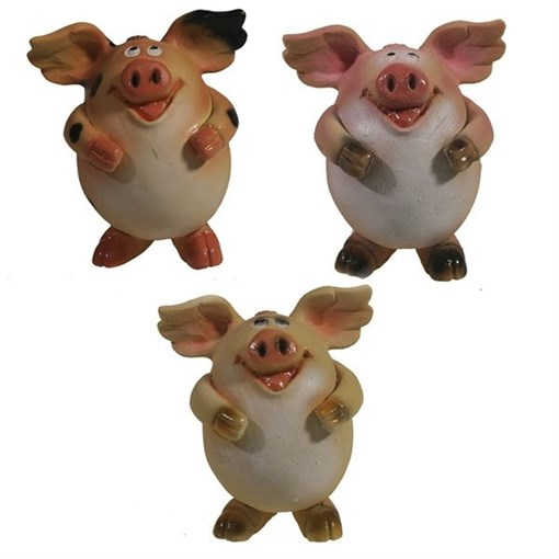 Фигура декоративная Свинка Мишелька L6.5W6H7.5см - фото 69904