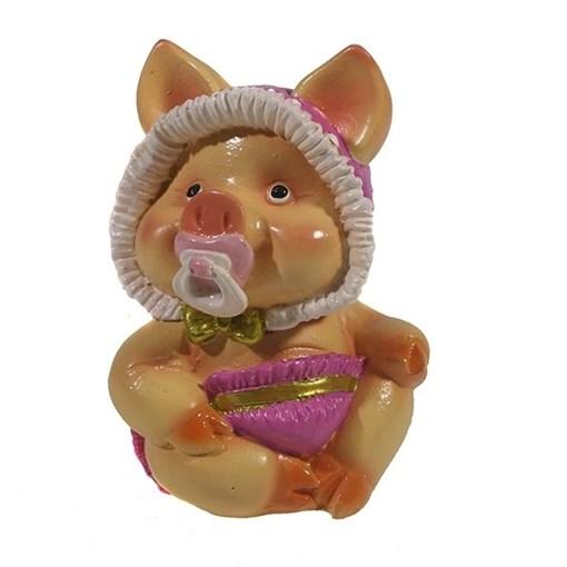 Фигура декоративная Свинка Кроха L6.5W5H9.5см - фото 69916