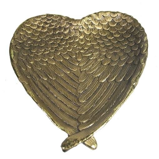 Подставка под мелочи Крылья ангела цвет: золото L23W20H3.5см - фото 69978