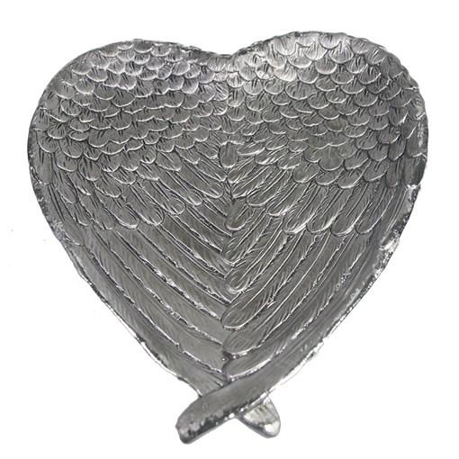 Подставка под мелочи Крылья ангела цвет: серебро L23W20H3.5см - фото 69979