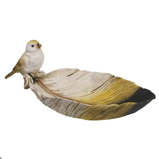 Подставка под мелочи Птичка на перышке цвет: акрил L26W10H10.5см - фото 69981