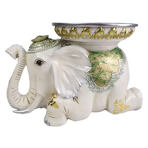 Изделие декоративное Слон цвет: слоновая кость L46W29.5H32см - фото 69993