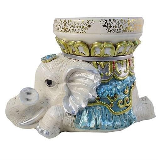 Изделие декоративное Слон цвет: слоновая кость L45W25H30.5см - фото 69996