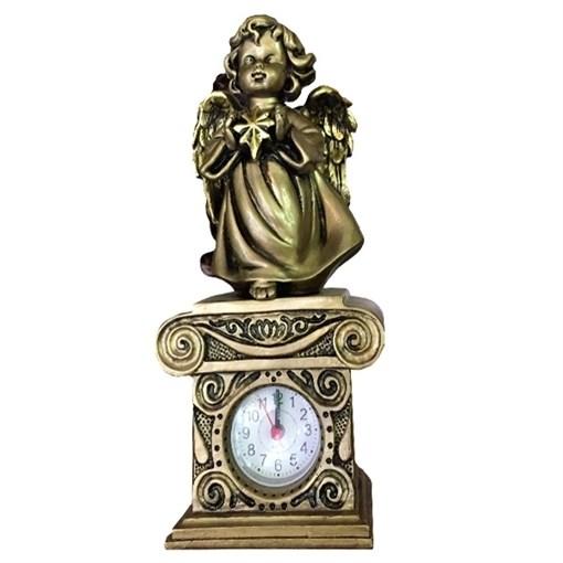 Композиция время Ангелочек со звездочкой цвет: сусальное золото Н25.5см. - фото 88378
