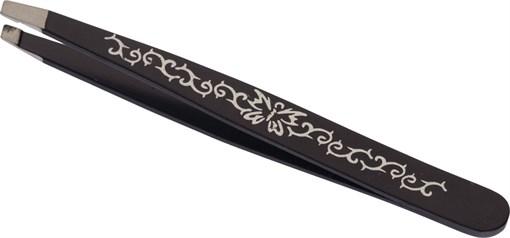 Пинцет косметический с наклонными рабочими кромками (95 мм) Dewal Beauty TW-283 - фото 94335