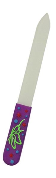 Пилка стеклянная с силиконовой ручкой 14 см Деваль Бьюти (Dewal Beauty) GF-06 - фото 94515