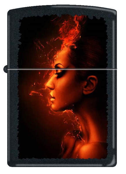 Зажигалка матовая Zippo 218 BURNING WOMAN - фото 95231