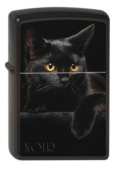 Зажигалка матовая Zippo 218 CAT - фото 95239
