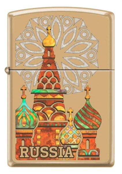 Зажигалка Россия Zippo 254B KREMLIN - фото 95247