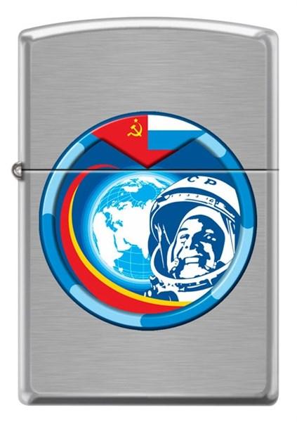 Зажигалка Гагарин Зиппо (Zippo) 200 COSMONAUT - фото 95251