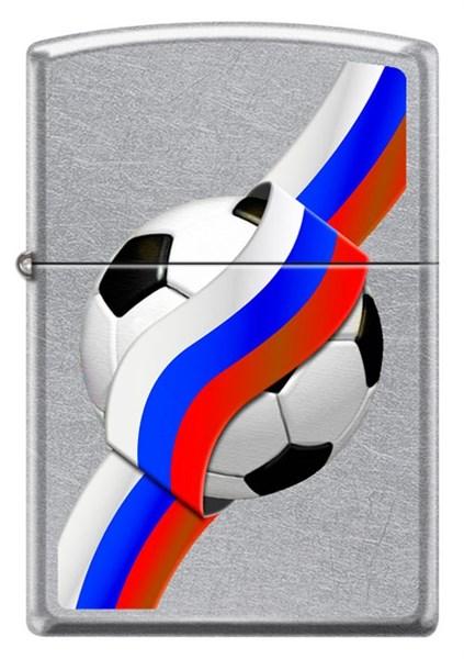Зажигалка Зиппо (Zippo) 207 RUSSIAN SOCCER - фото 95253