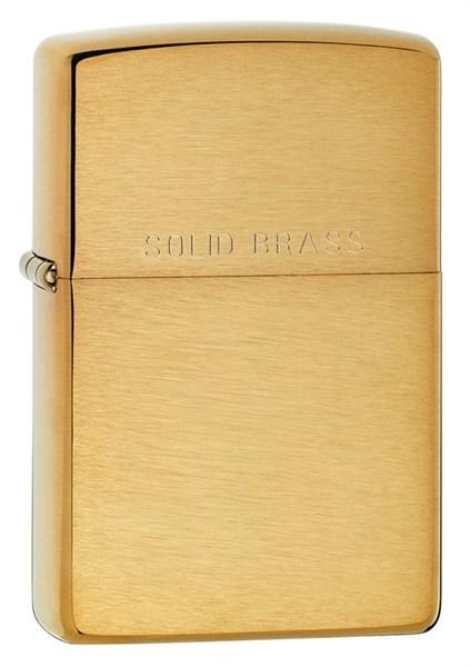 Зажигалка Brushed Brass Zippo 204 - фото 95298