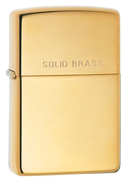 Зажигалка High Polish Brass Zippo 254 - фото 95321