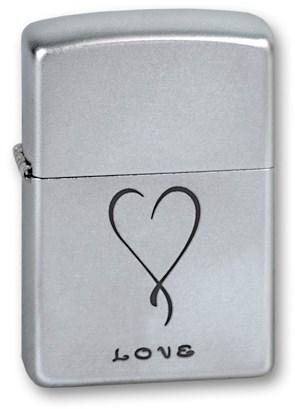 Широкая зажигалка Zippo 205 Love - фото 95411