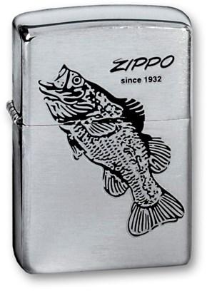 Зажигалка Зиппо (Zippo) 200 BLACK BASS - фото 95441