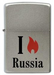 Зажигалка Zippo 205 Flame Russia - фото 95800