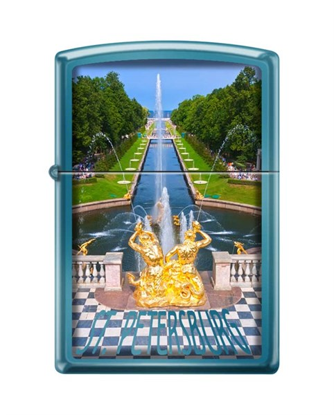 Зажигалка Петергофский фонтан Зиппо (Zippo) 20446 PETRODVORETS - фото 95847