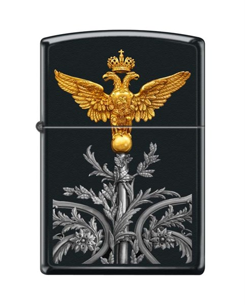 Зажигалка двуглавый орёл Zippo 218 RUSSIAN COAT OF ARMS - фото 95859